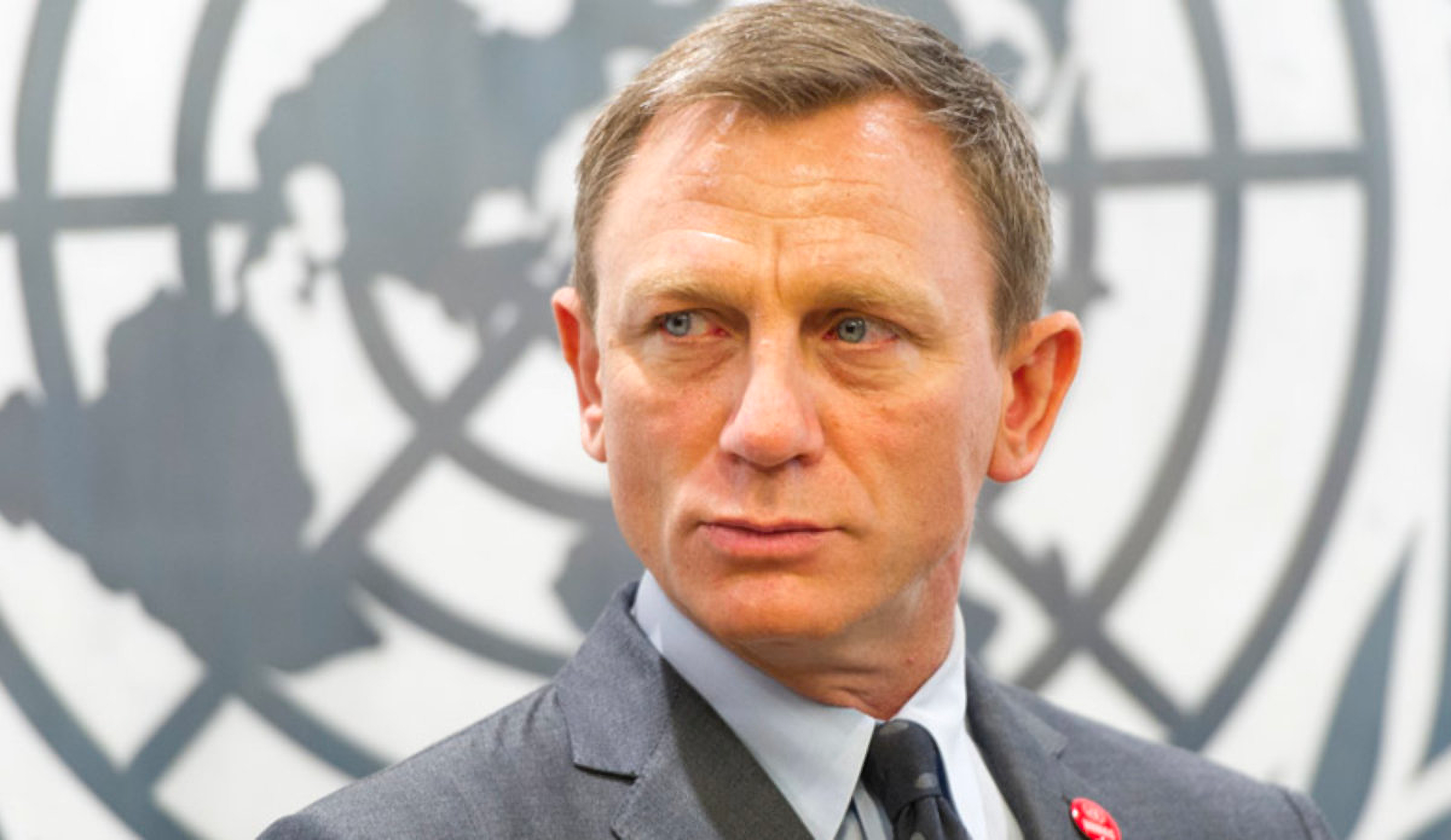World-renowned actor Daniel Craig is the first UN Global Advocate for the Elimination of Mines and Explosive Hazards. ©UN photo/ Mark Garten