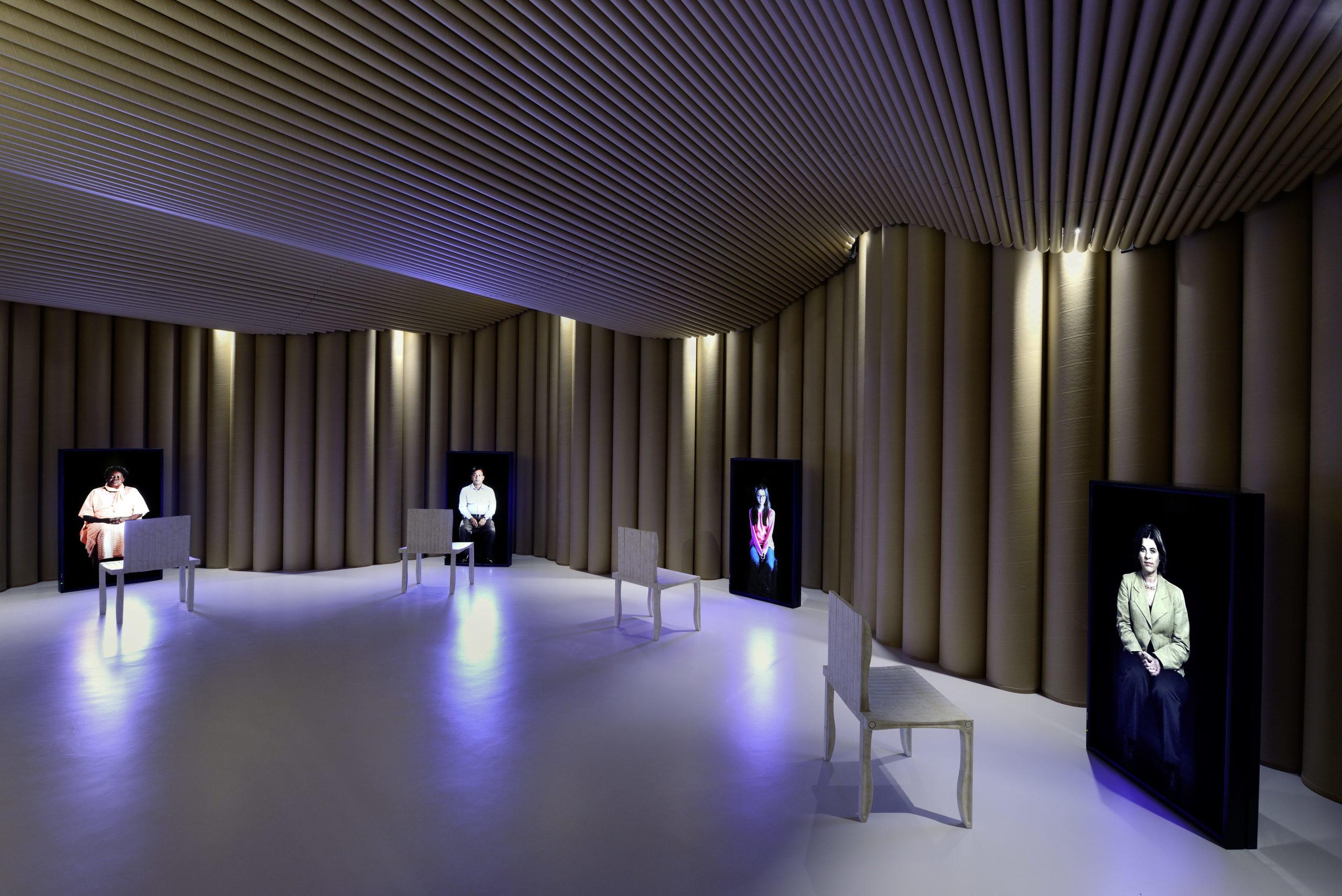 La chambre des témoins, Architecte Shigeru Ban – ©MICR photo Alain Germond