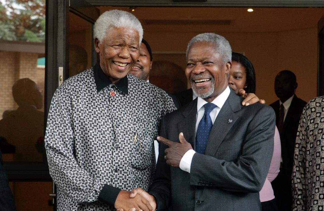 Nelson Mandela with Kofi Annan_UN photo