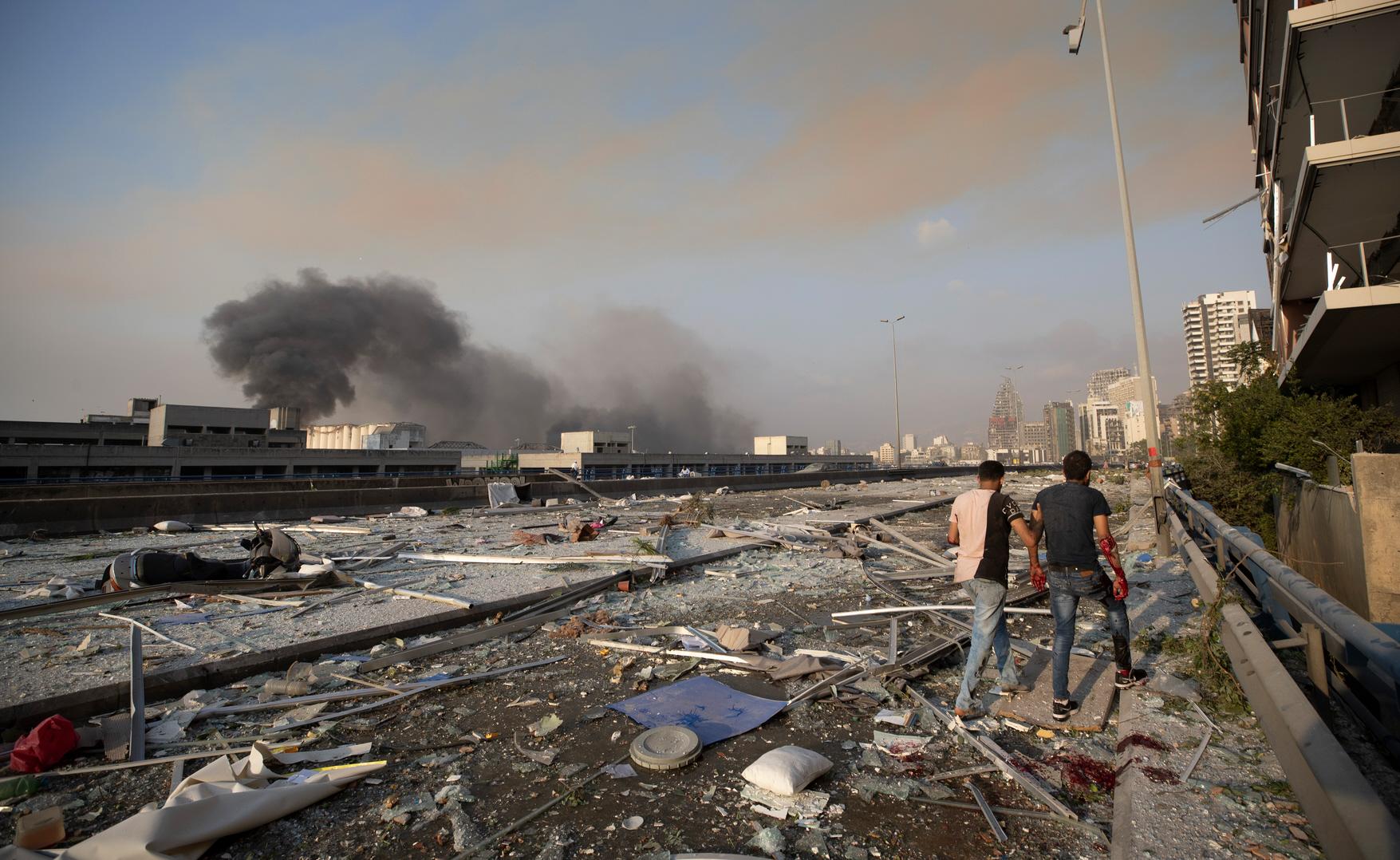 Corniche de Beyrouth, après la double explosion du port le 4 août 2020 - Crédit Boaz Guttman
