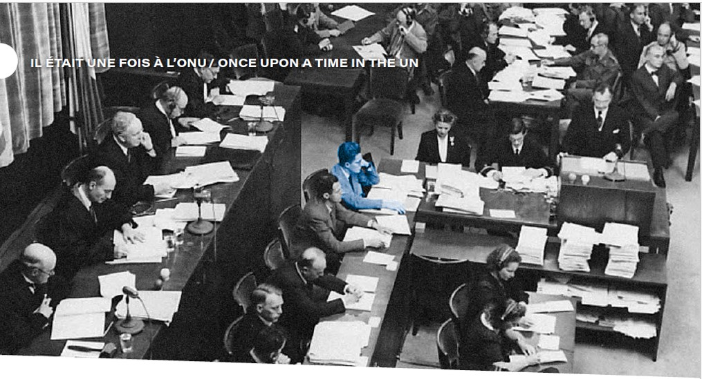 Le procès de Nuremberg. En bleu, Yves Beigbeder.