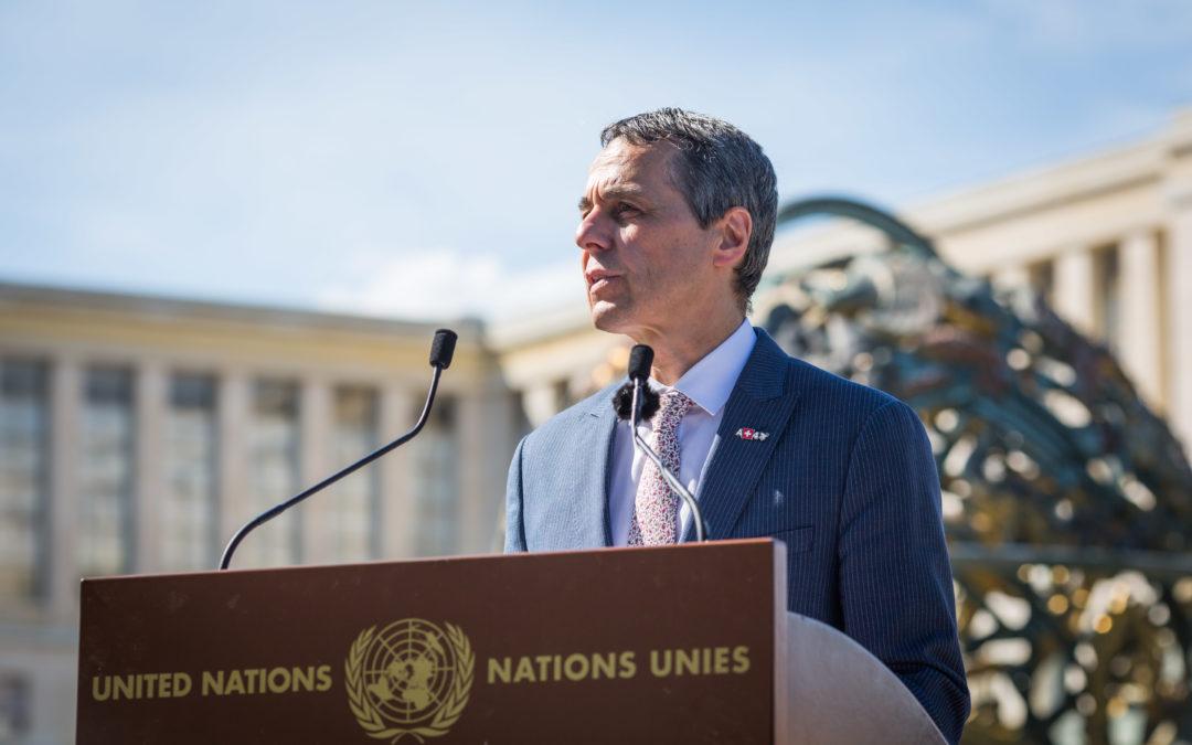 Paix et stabilité: La Suisse et l'ONU, des partenaires de dialogue fiables