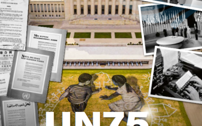 Photos of the month: October 2020. UN75 United Nations's staff. 75 Years Serving the Organisation