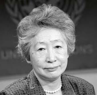 Sadako Ogata, Haut Commissaire des Nations unies pour les réfugiés (UNHCR), de 1990 à 2000. © UN photo - John Isaac