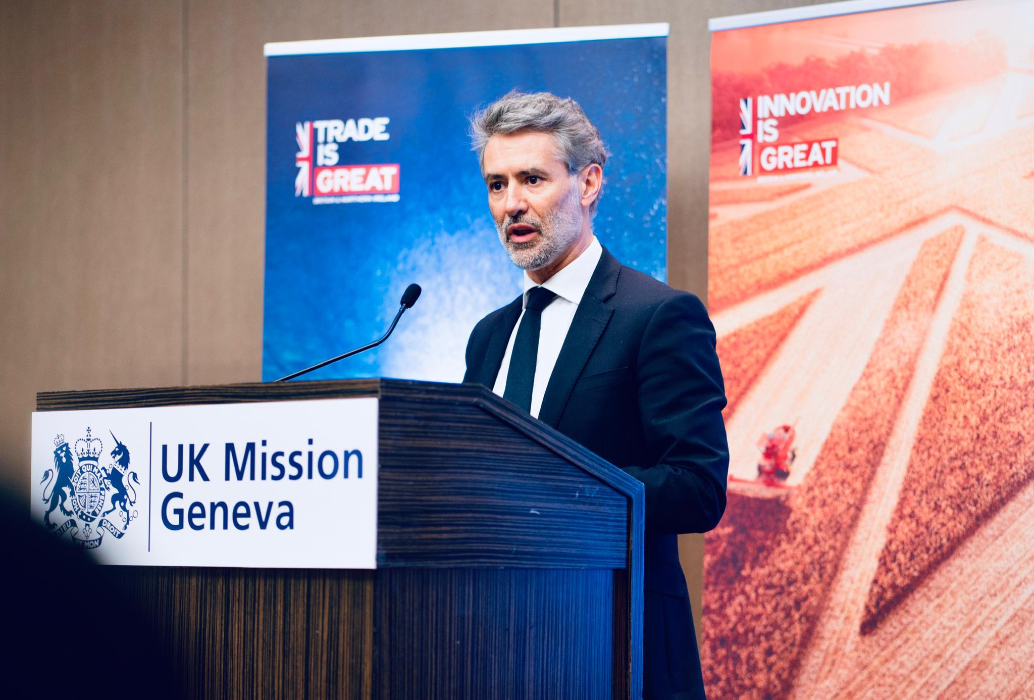 Julian Braithwaite, the UK's permanent representative. © UK Mission Geneva