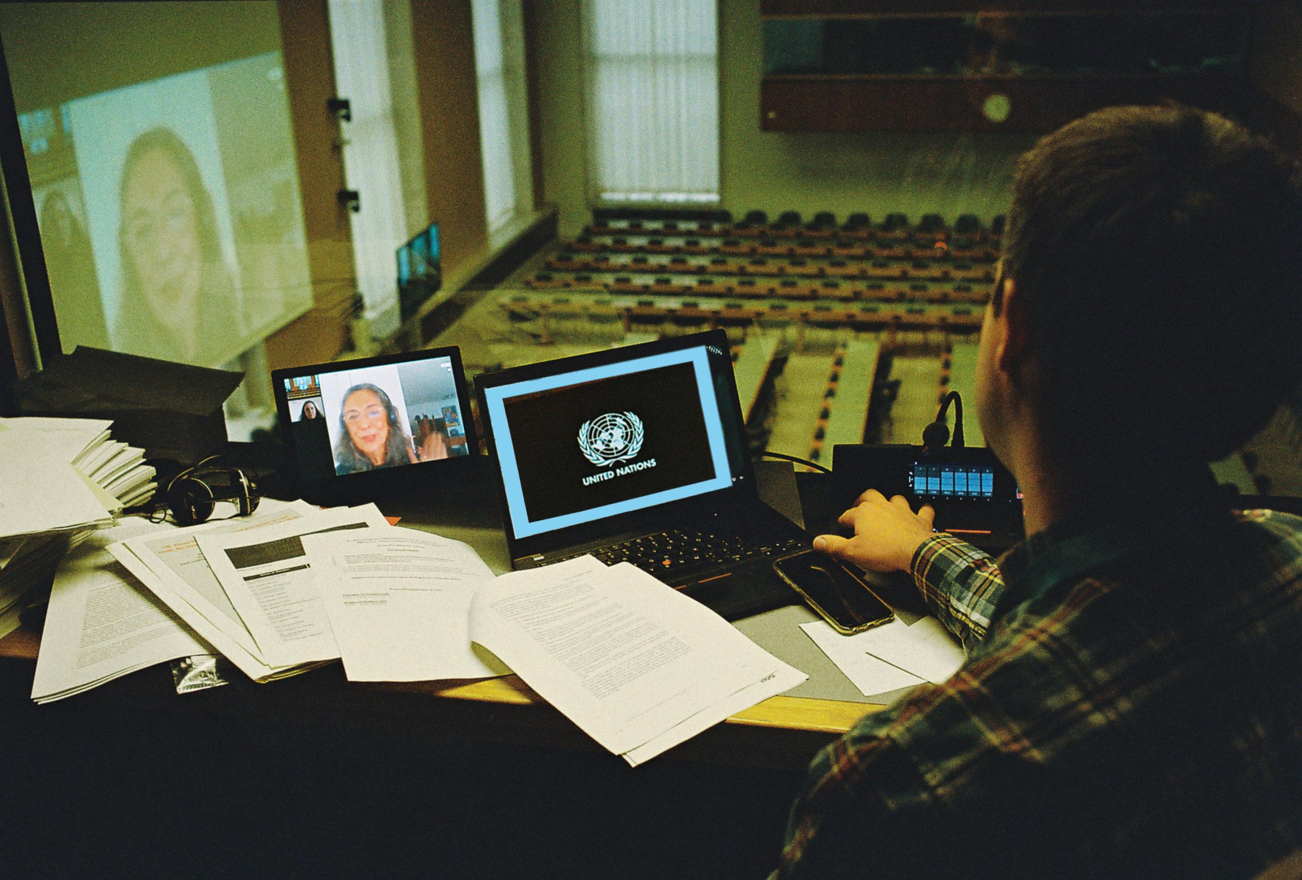 RSI in Room XVI. Palais des Nations (United Nations Office at Geneva) © Daniel Harrison