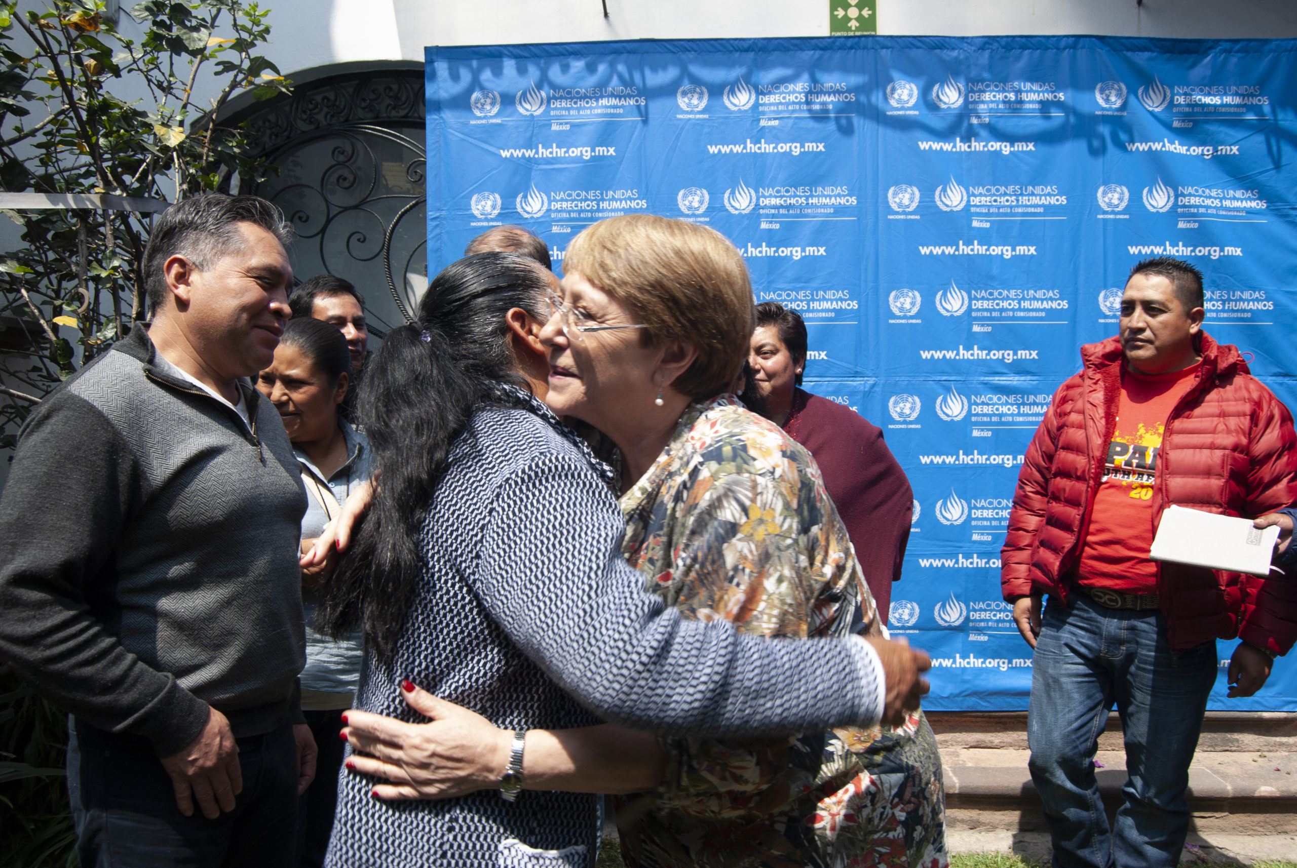 Michelle Bachelet meeting with the families of the disappeared Tlanixco, Mexico April 2019. © OHCHR Photo