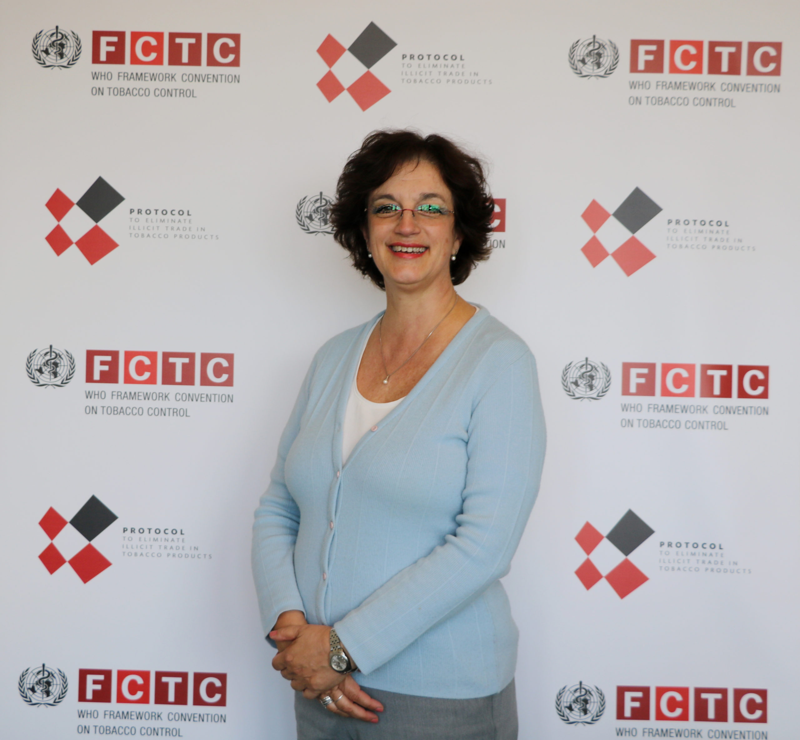 Dr Adriana Blanco Marquizo in her office. © SECRETARIAT OF THE WHO FCTC