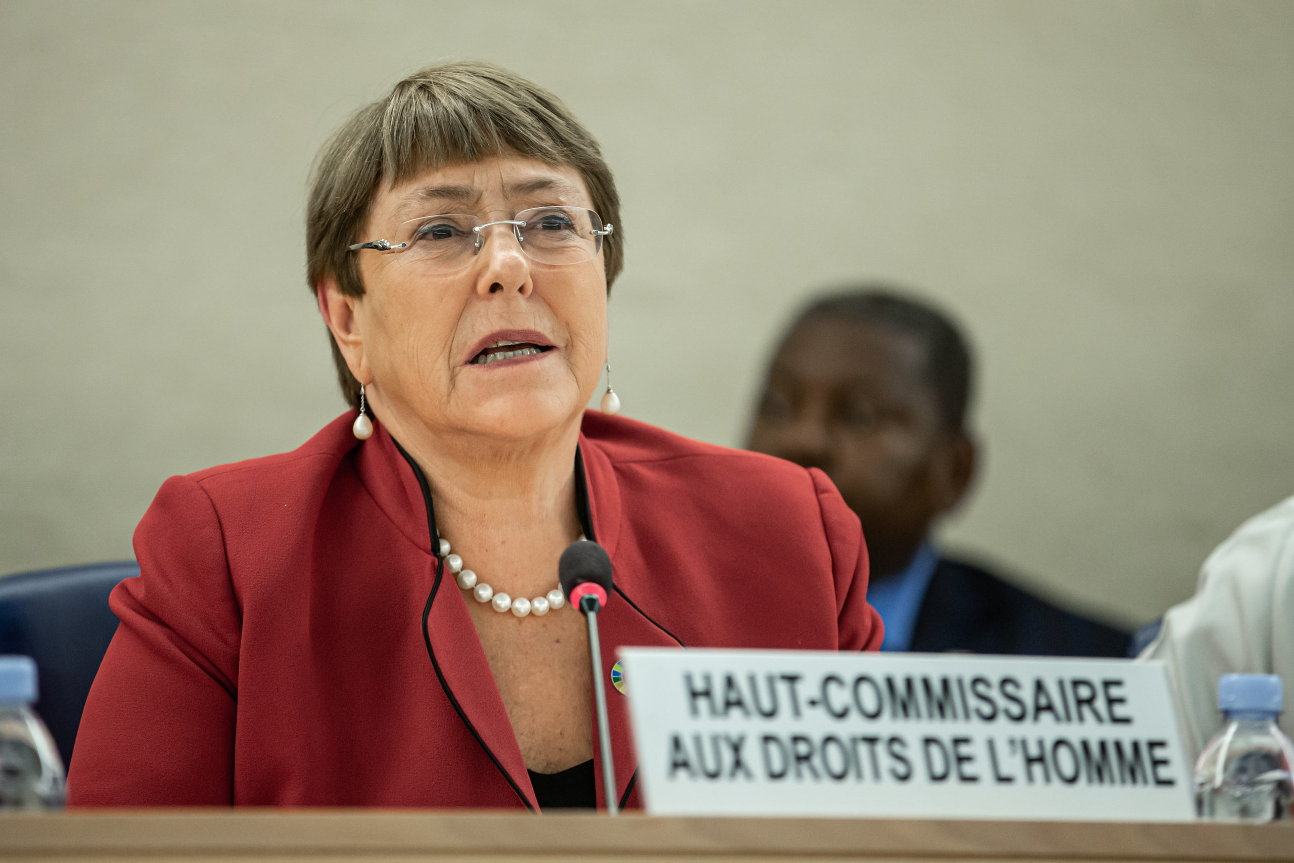 Michelle Bachelet speaking at the 43rd session of the Human Rights Council, February 24, 2020. © UN Photo/Pierre Albouy