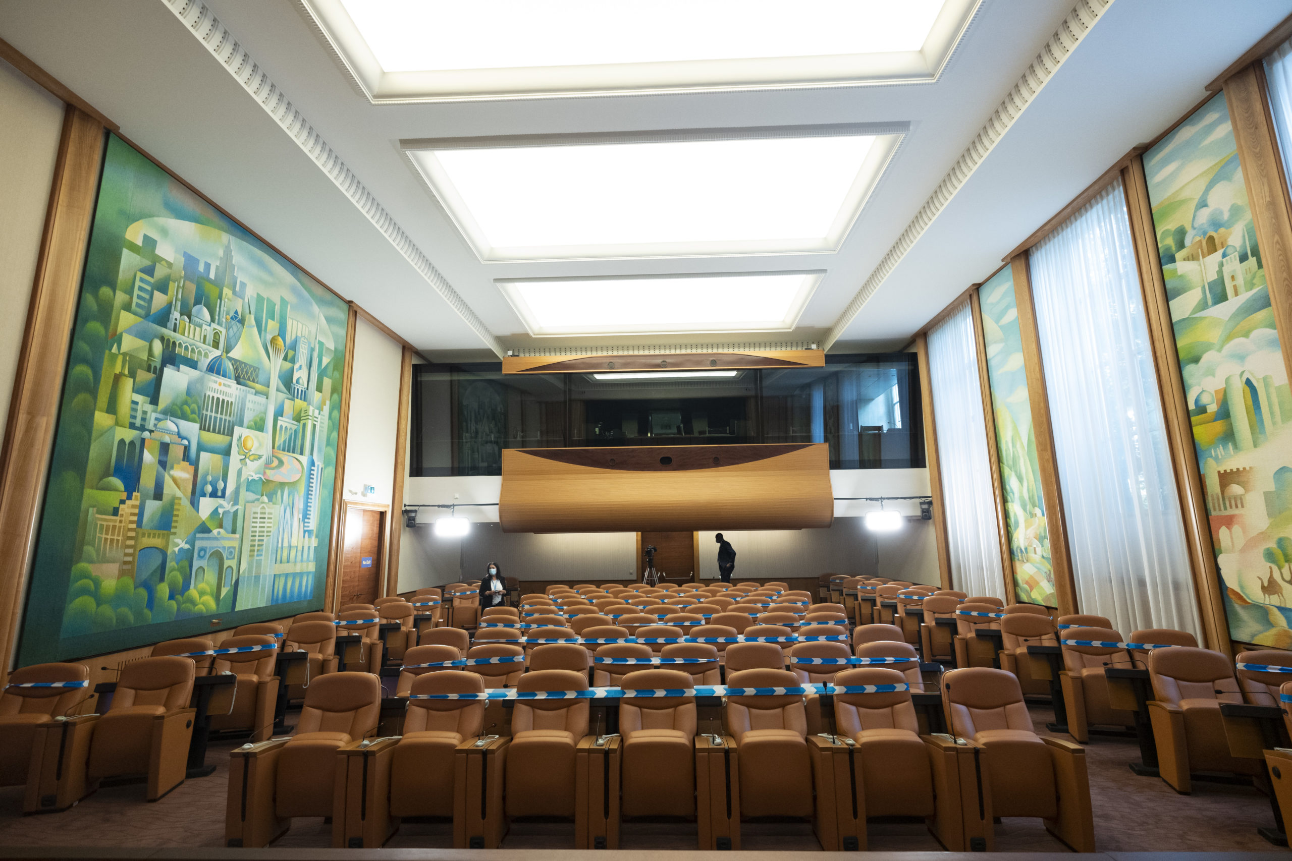 Kazakh Room (Cinema room XIV), UNOG, Palais des Nations. ©UN Photo / Jean Marc Ferré