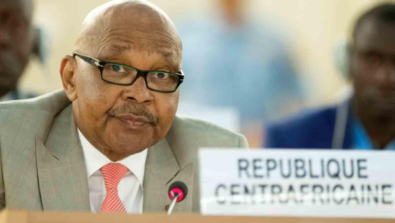 L'ambassadeur de la République Centrafricaine, durant une session du Conseil des droits de l'homme