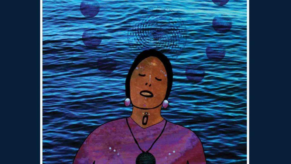 """""""The Water Carries Her, She Carries the Water"""" par Elizabeth LaPensée, visuel de la nouvelle exposition"""
